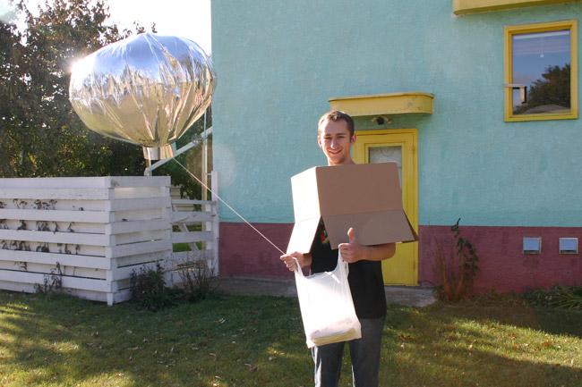 Balloon boy costume.