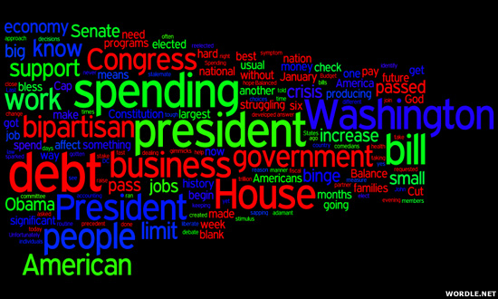 Boehner Debt Speech Cloud