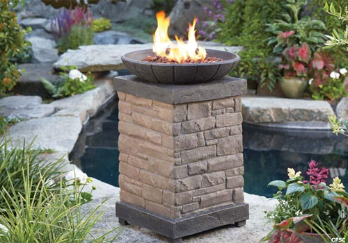 outdoor gas column