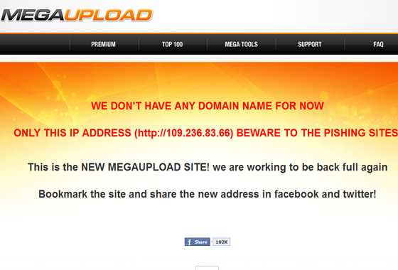Megaupload Screengrab