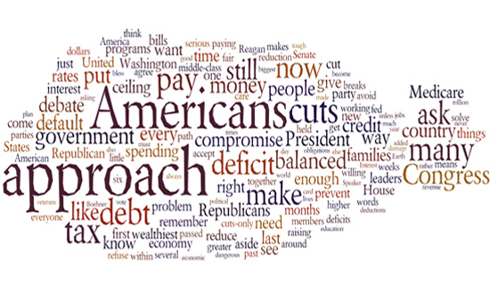 Obama Debt Speech Cloud