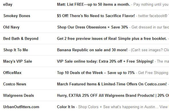 Incessant Emails