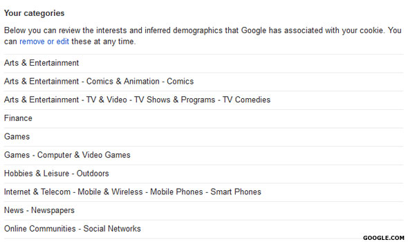 Google's Ad Preferences