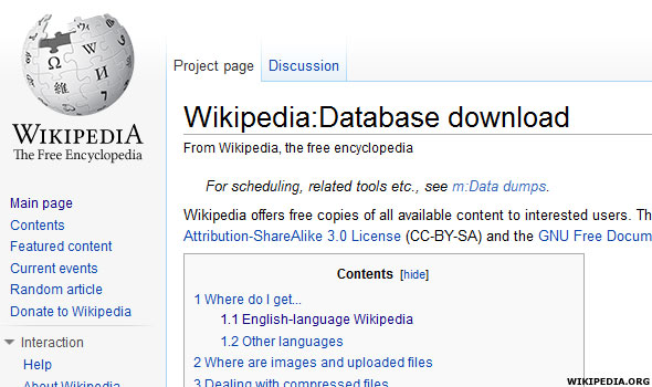 Wikipedia's Download Page