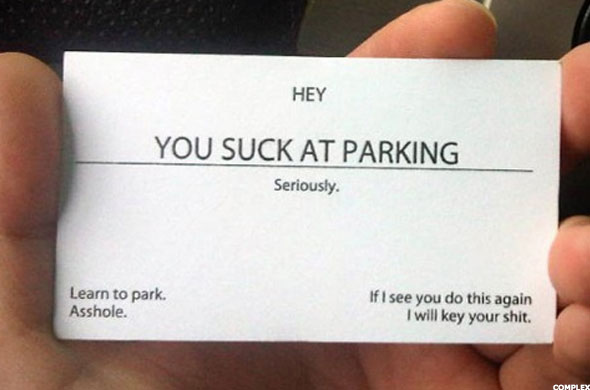 Worst business cards of all time thestreet the bad parking card colourmoves